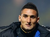 Federico Macheda of Doncaster Rovers warms up during the Sky Bet Championship match between Watford and Doncaster Rovers at Vicarage Road on September 17, 2013