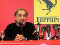 Fiat Chrysler Automobiles chairman Sergio Marchionne in the Ferrari headquarters in Maranello on September 10, 2014