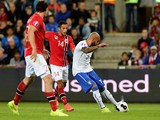 Simone Zaza of Italy #7 scores the first goal during the UEFA EURO 2016 qualifier match between Norway and Italy at Ullevaal Stadion on September 9, 2014