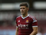 Aaron Cresswell of West Ham United in action during the pre-season friendly match between West Ham United and Sampdoria at Boleyn Ground on August 9, 2014
