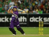 Aiden Blizzard of the Hurricanes bats during the Big Bash League match between the Melbourne Stars and the Hobart Hurricanes at Melbourne Cricket Ground on January 21, 2014