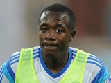 Giannelli Imbula of Marseille warms up prior to the French Ligue 1 match between Olympique de Marseille and OGC Nice at Stade Velodrome on August 29, 2014