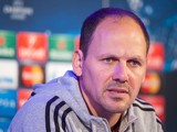 NK Maribor's head coach Ante Simundza gives a press conference on the eve of the UEFA Champions League footbal match NK Maribor vs. Sporting Lisbon, on September 16, 2014