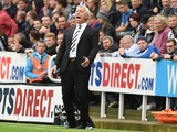 Alan Pardew manager of Newcastle United during Premier League Football match between Newcastle United a