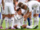 Cristiano Ronaldo of Real Madrid CF celebrates with his teammates after scoring the opening goal during the La Liga match between RC Deportivo La Coruna and Real Madrid CF at Riazor Stadium on September 20, 2014