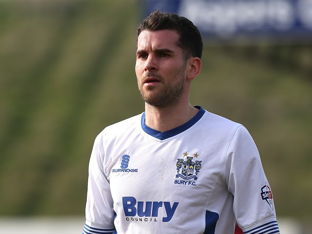 Daniel Nardiello of Bury in action during the Sky Bet League Two match between Northampton Town and Bury at Sixfields Stadium on March 29, 2014