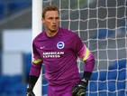David Stockdale of Brighton during the Pre Season Friendly match between Brighton & Hove Albion and Southampton at The Amex Stadium on July 31, 2014