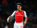 Hector Bellerin of Arsenal in action during the Capital One Cup Third Round match between Arsenal and Southampton at the Emirates Stadium on September 23, 2014