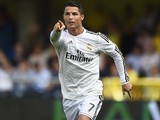 Real Madrid's Portuguese forward Cristiano Ronaldo celebrates afte