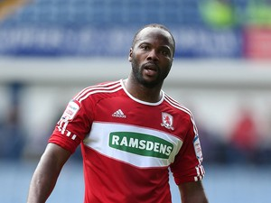 Andre Bikey of Middlesbrough in action during the npower Championship match between Sheffield Wednesday and Middlesbrough at Hillsborough Stadium on May 4, 2013