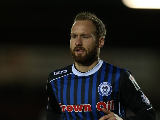 Matt Done of Rochdale in action during the Sky Bet league Two match between Northampton Town and Rochdale at Sixfields Stadium on March 18, 2014