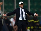 Giuseppe Iachini head coach of Palermo gestures during the Serie A match between US Citta di Palermo and SS Lazio at Stadio Renzo Barbera on September 29, 2014