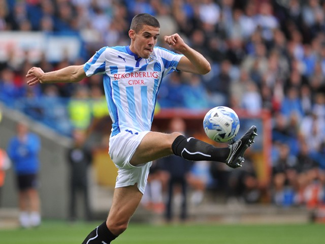 Conor Coady of Huddersfield during Sky Bet Championship match between Huddersfield Town and Charlton Athletic at Galpharm Stadium on August 23, 2014