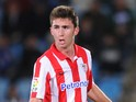 Aymeric Laporte of Athletic Club in action during the start of the La Liga match between Getafe CF and Athletic Club at Coliseum Alfonso Perez stadium on October 28, 2013