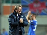 England's coach Roy Hodgson walks off the pitch following the game against Estonia during a UEFA 2016 European Championship qualifying group E football match between England and Estonia in Tallinn, Estonia, on October 12, 2014