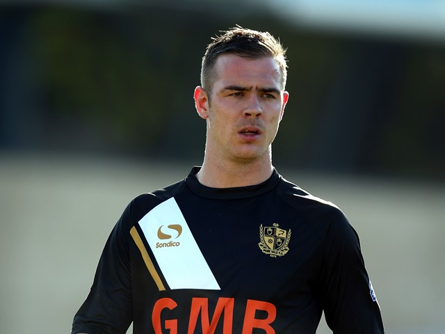 Tom Pope of Port Vale in action during the Sky Bet League One match between Coventry City and Port Vale at Sixfields Stadium on March 16, 2014