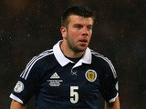 Grant Hanley of Scotland in action during the FIFA 2014 World Cup Qualifying Group A match between Scotland and Belgium at Hampden Park on September 6, 2013