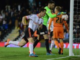 Scott Parker of Fulham celebrates his goal during the Sky Bet Championship match between Fulham and Charlton A