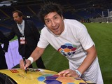 Ivan Zamorano attends the Interreligious Match For Peace at Olimpico Stadium on September 1, 2014
