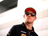 Nico Hulkenberg of Germany and Force India leaves the circuit after practice ahead of the Russian Formula One Grand