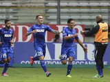 Sergio Floccari of US Sassuolo Calcio celebrates after scoring the opening goal during the Serie A match between Parma FC and US Sassuolo at Stadio Ennio Tardini on October 25, 2014