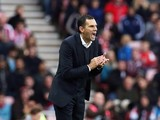 Sunderlands Uruguayan manager Gus Poyet reacts during the English Premier League football match between Sunderland and Arsenal at the Stadium of Light in Sunderland, northeast England, on October 25, 2014