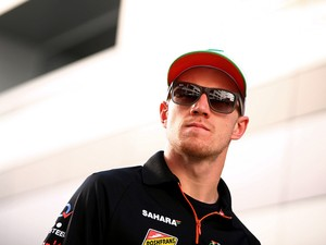 Nico Hulkenberg of Germany and Force India leaves the circuit after practice ahead of the Russian Formula One Grand Prix at Sochi Autodrom on October 10, 2014