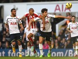 Steven N'Zonzi of Stoke City and Federico Fazio of Spurs compete for the ball during the Barclays Premier League match on November 9, 2014