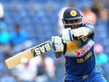 Sri Lanka's captain Angelo Mathews plays a shot during the first One Day International (ODI) match between Sri Lanka and Pakistan at the Suriyawewa Mahinda Rajapakse International Cricket Stadium in the southern district of Hambantota on August 23, 2014