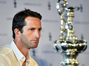 Ben Ainslie of Ben Ainslie Racing attends a press conference introducing the teams of the 35th America's Cup in London, on September 9, 2014