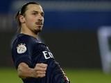 Paris Saint-Germain's Swedish forward Zlatan Ibrahimovic celebrates after scoring a goal during the French L1 football match between Paris Saint-Germain (PSG) and Nantes on December 6, 2014