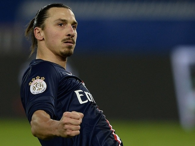 Paris SaintGermain39;s Swedish forward Zlatan Ibrahimovic celebrates