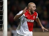 Monaco's Tunisian defender Aymen Abdennour celebrates after scoring a goal during the UEFA Champions League football match AS Monaco (ASM) vs Zenit Saint-Petersburg, on December 9, 2014