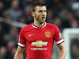 Michael Carrick of Manchester United in action during the Barclays Premier League match between Manchester United and Hull City at Old Trafford on November 29, 2014