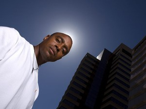 Jon Drummond poses for a portrait at the Westin Hotel prior to the Adidas Track Classic on May 16, 2008