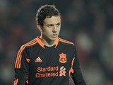 Danny Ward in action for Liverpool in 2012