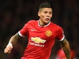 Marcos Rojo in action for Manchester United on October 26, 2014