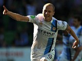 Aaron Mooy (#6) of Melbourne City celebrates his goal during the round 13 A-League match between Melbourne City FC and Perth Glory at AAMI Park on December 26, 2014