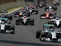 General view of start of the Brazilian Formula One Grand Prix at the Interlagos racetrack in Sao Paulo Brazil on November 9 2014