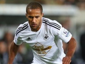 Wayne Routledge in action for Swansea on December 2, 2014
