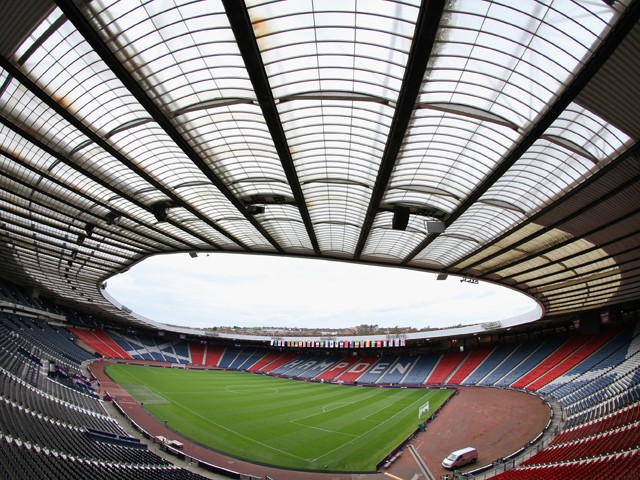 A general view of the Hampden Park Stadium on July 25, 2012