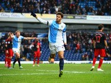 Rudy Gestede of Blackburn Rovers (39) celebrates as he scores their s