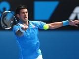 Novak Djokovic in action on day one of the Australian Open on January 20, 2015