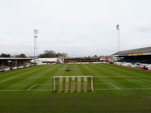 A general view at Abbey Stadium on January 19, 2015