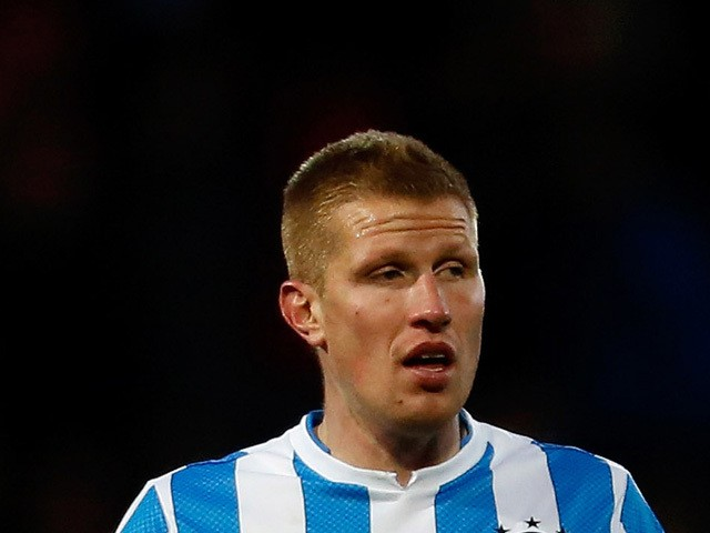 Keith Southern of Huddersfield Town during the npower Championship match between Huddersfield Town and Brighton & Hove Albion at the John Smith's Stadium on November 17, 2012