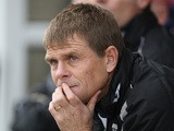 Gillingham manager Andy Hessenthaler looks on during the npower League Two match between Northampton Town and Gillingham at Sixfields Stadium on October 30, 2010