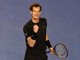 Britain's Andy Murray reacts during his men's singles semi-final match against Czech Republic's Tomas Berdych on day eleven of the 2015 Australian Open tennis tournament in Melbourne on January 29, 2015