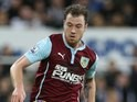 Ashley Barnes for Burnley on January 1, 2015