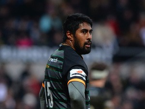 Ahsee Tuala of Northampton Saints during the LV= Cup match between Northampton Saints and Wasps at Franklin's Gardens on February 7, 2015