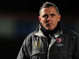 Paul Buckle, Manager of Cheltenham Town looks on during the Sky Bet League Two match between Cheltenham Town and Morecambe at Whaddon Road on January 16, 2015